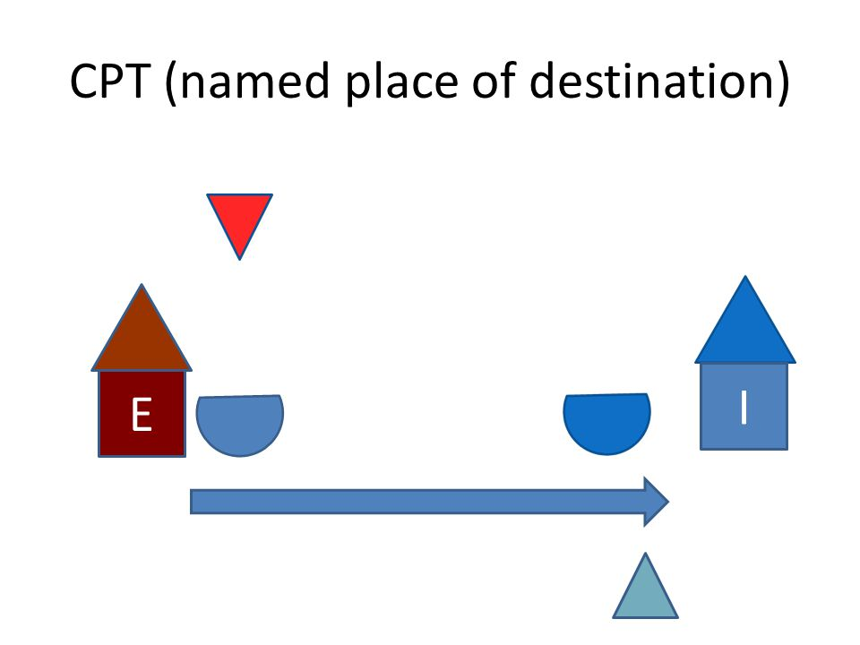 CPT (named place of destination) E I