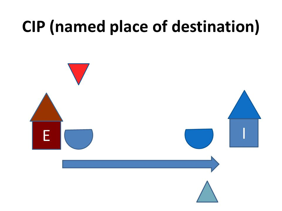 CIP (named place of destination) E I