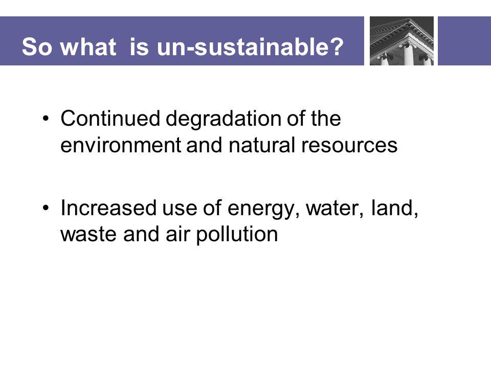 Why Sustainability.
