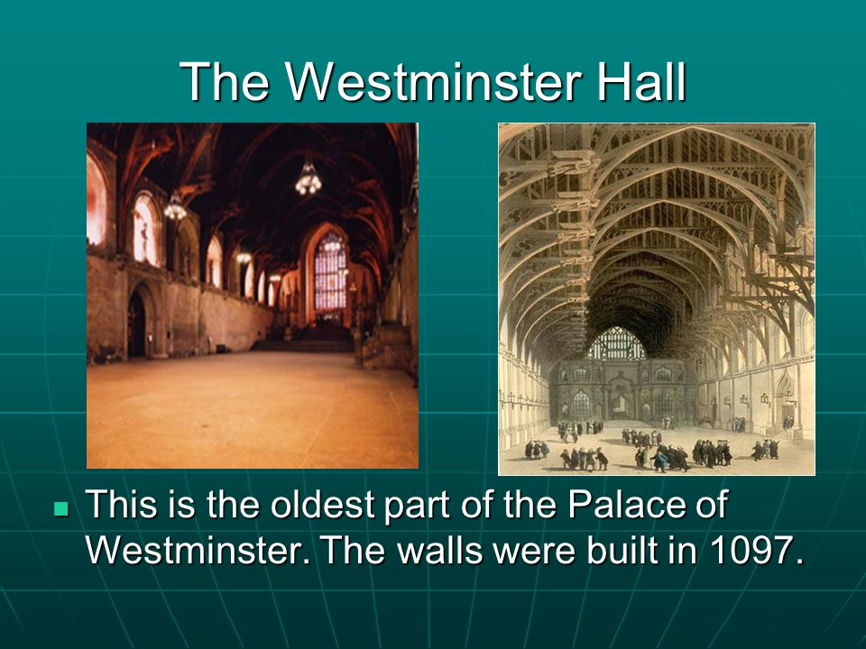 In the House of Commons There are two long narrow corridors here.