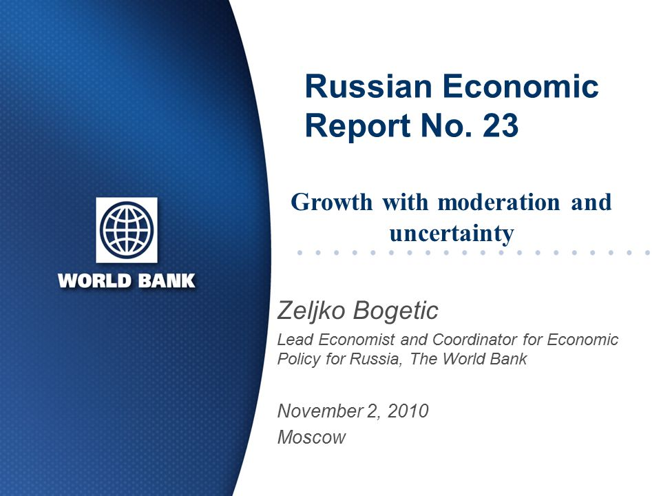 Russian Economic Report No.