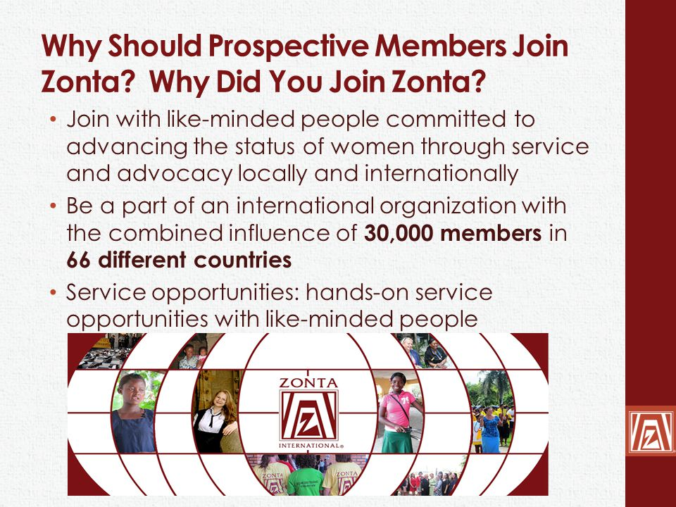 New Membership Opportunity If a new or charter member joins between 1 April – 31 May 2014, they only have to pay ZI dues for one year taking their membership to 31 May 2015.