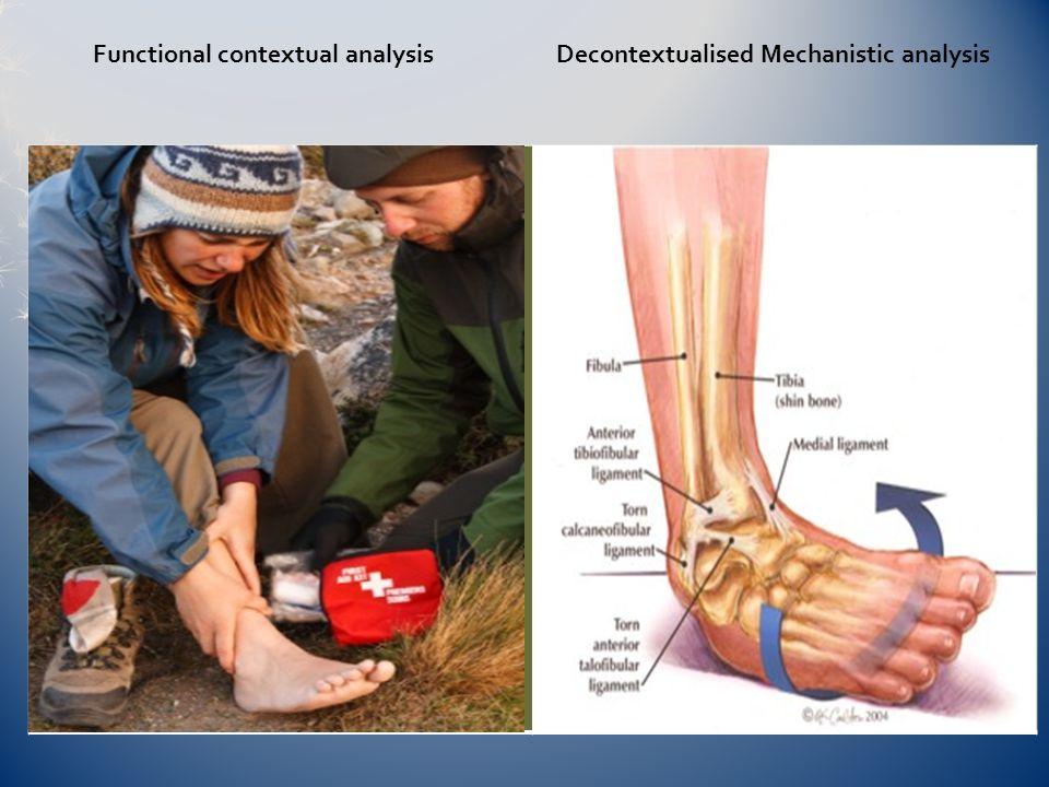 Functional contextual analysis Decontextualised Mechanistic analysis