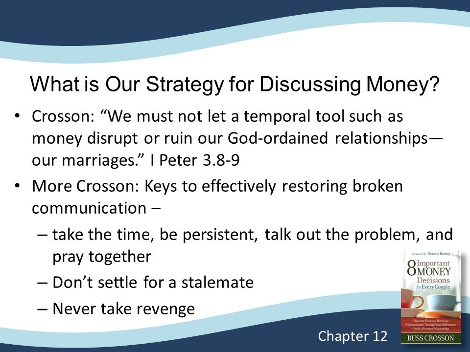 What is Our Strategy for Discussing Money.