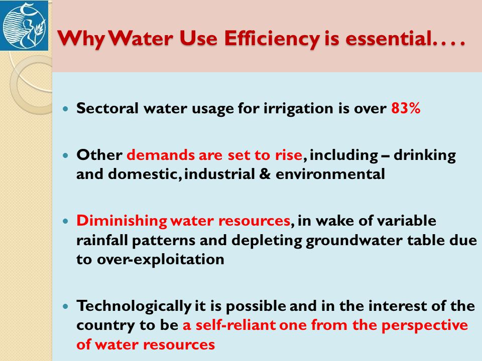 Why Water Use Efficiency is essential....