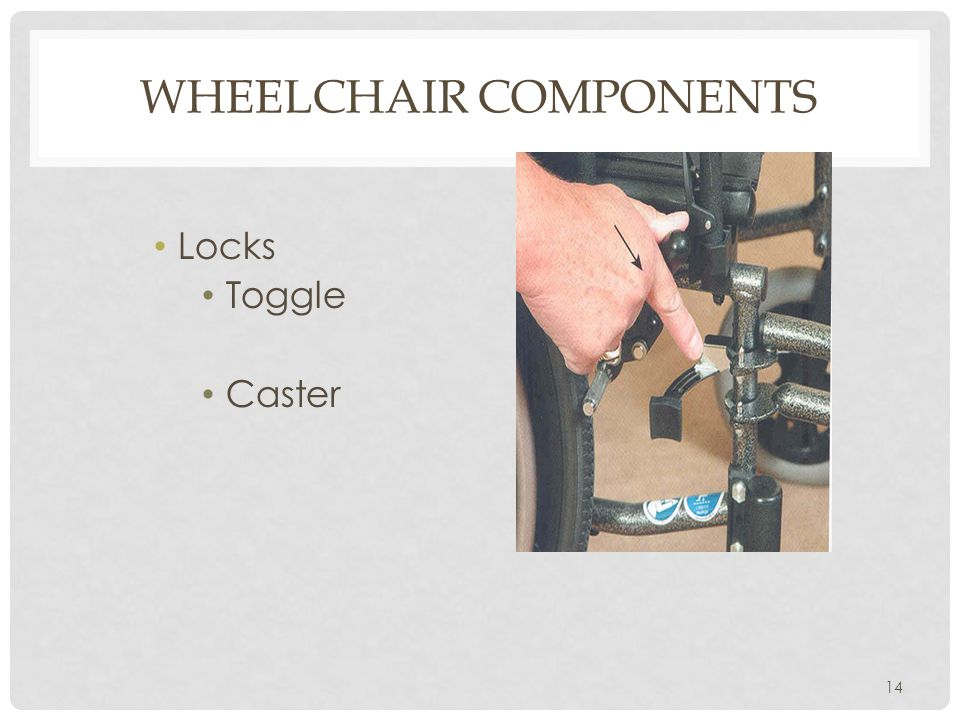 WHEELCHAIR COMPONENTS Locks Toggle Caster 14