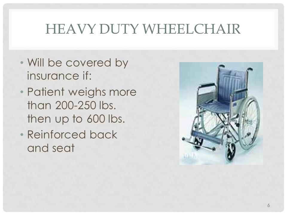 WHEELCHAIR COMPONENTS Leg Rests Fixed foot rest (sports) Swing Away/Removable (most desirable in general) Elevating (for amputees, diabetes) Foot Rests Heel Loop Toe Loop Fixed Swing up Plates smooth or ridges 17
