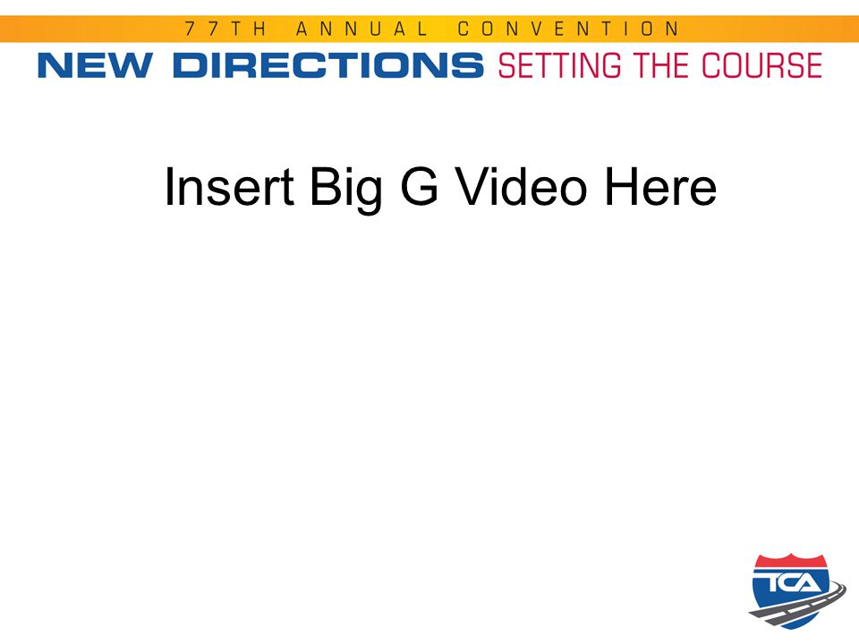 Insert Big G Video Here