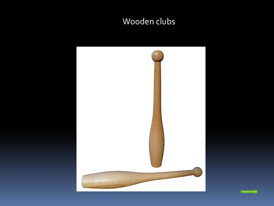 In the course of the development of gymnastics manufacturers invented more practical and safer clubs made of plastic.