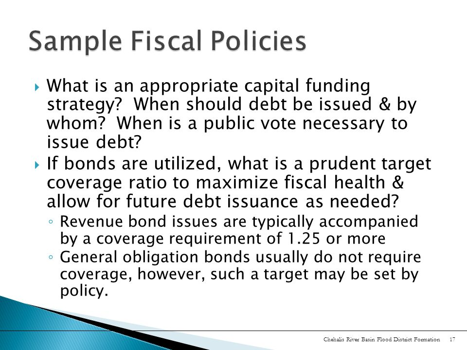  What is an appropriate capital funding strategy.