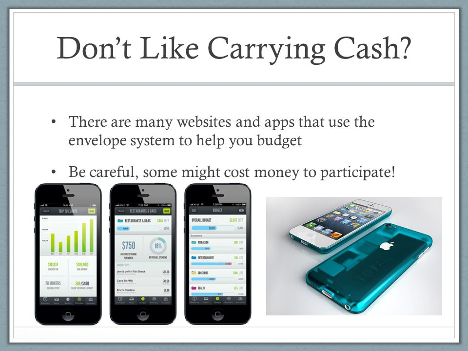 Don't Like Carrying Cash.