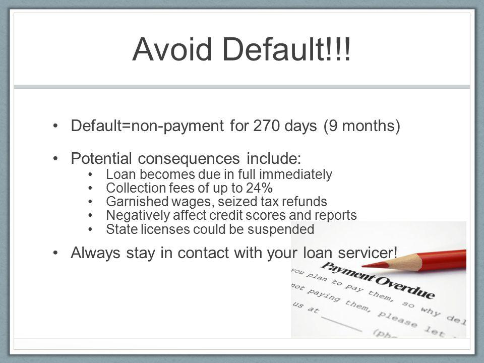 Avoid Default!!.
