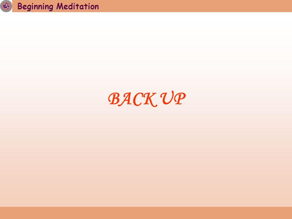Beginning Meditation BACK UP