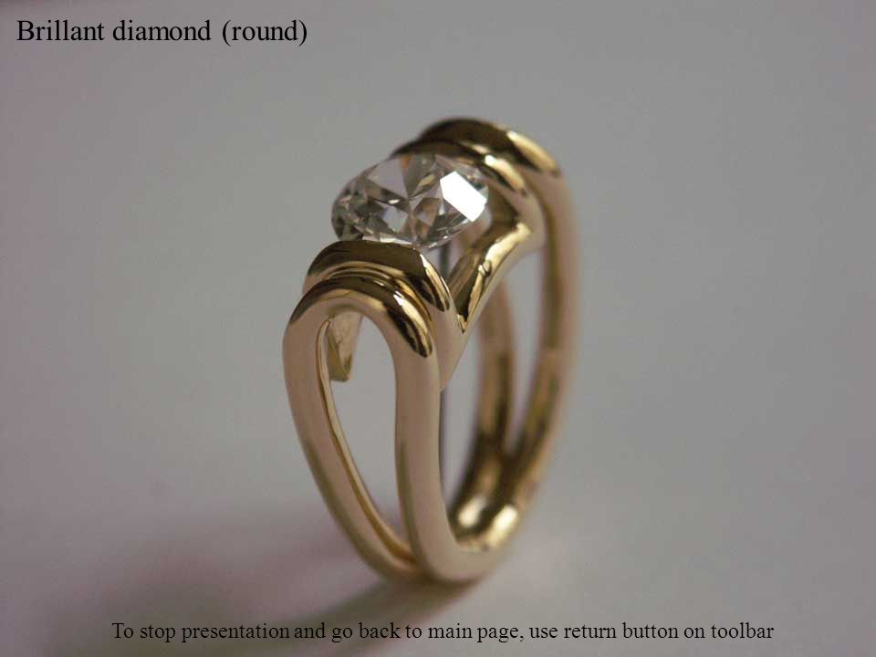 Cushion diamond (square with rounded angles) To stop presentation and go back to main page, use return button on toolbar