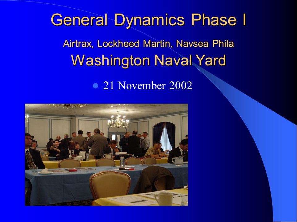 General Dynamics Phase I Airtrax, Lockheed Martin, Navsea Phila Washington Naval Yard 21 November 2002