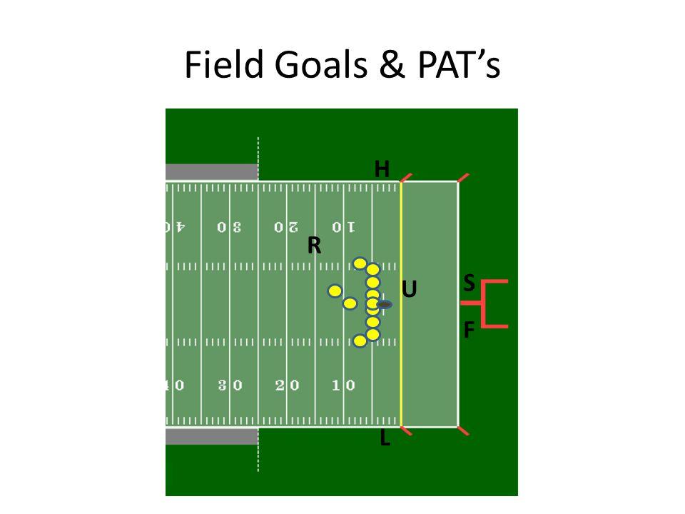 Field Goals & PAT's U R H L F S