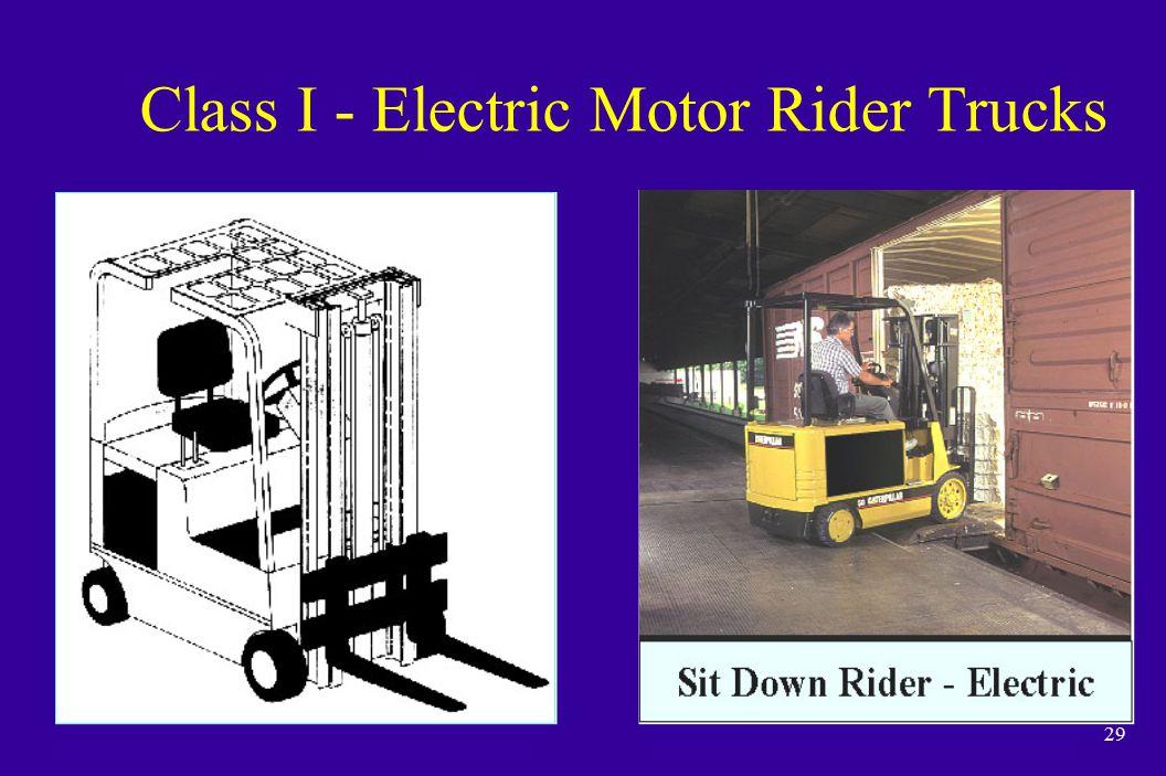 29 Class I - Electric Motor Rider Trucks