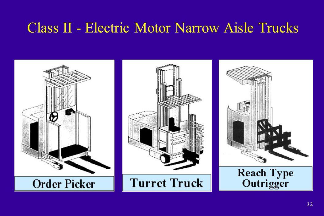 32 Class II - Electric Motor Narrow Aisle Trucks