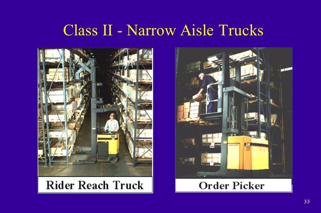 33 Class II - Narrow Aisle Trucks