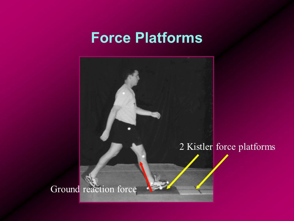 Force Platforms 2 Kistler force platforms Ground reaction force