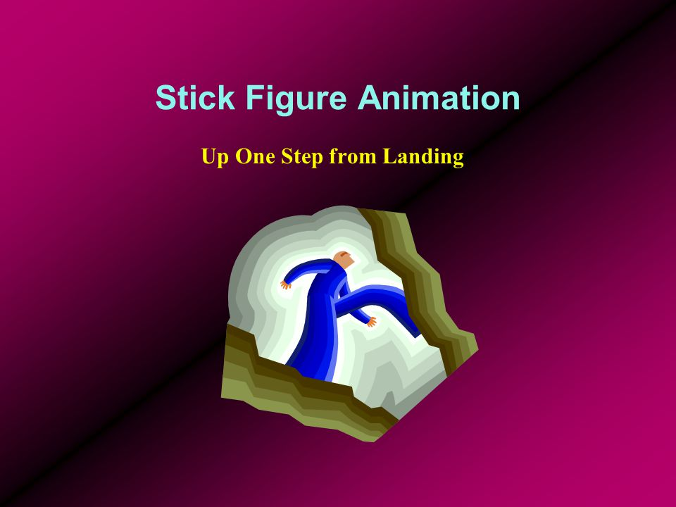 Stick Figure Animation Up One Step from Landing