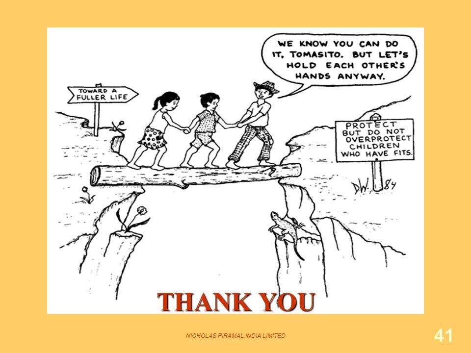 NICHOLAS PIRAMAL INDIA LIMITED 41 THANK YOU