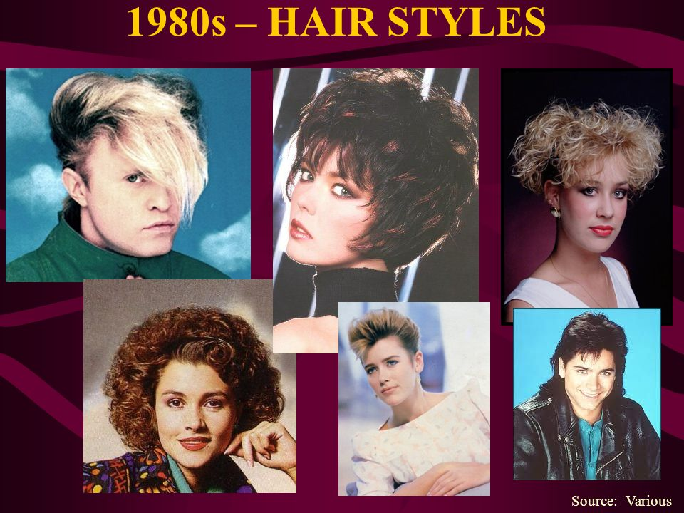 1980s – HAIR STYLES Source: Various