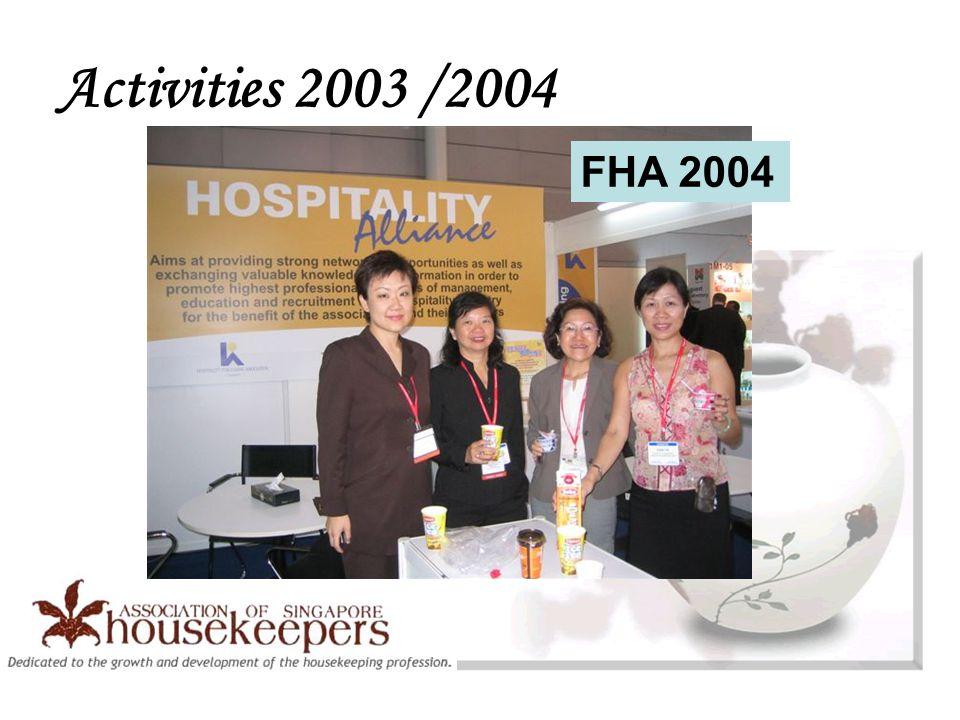 Activities 2003 /2004 FHA 2004
