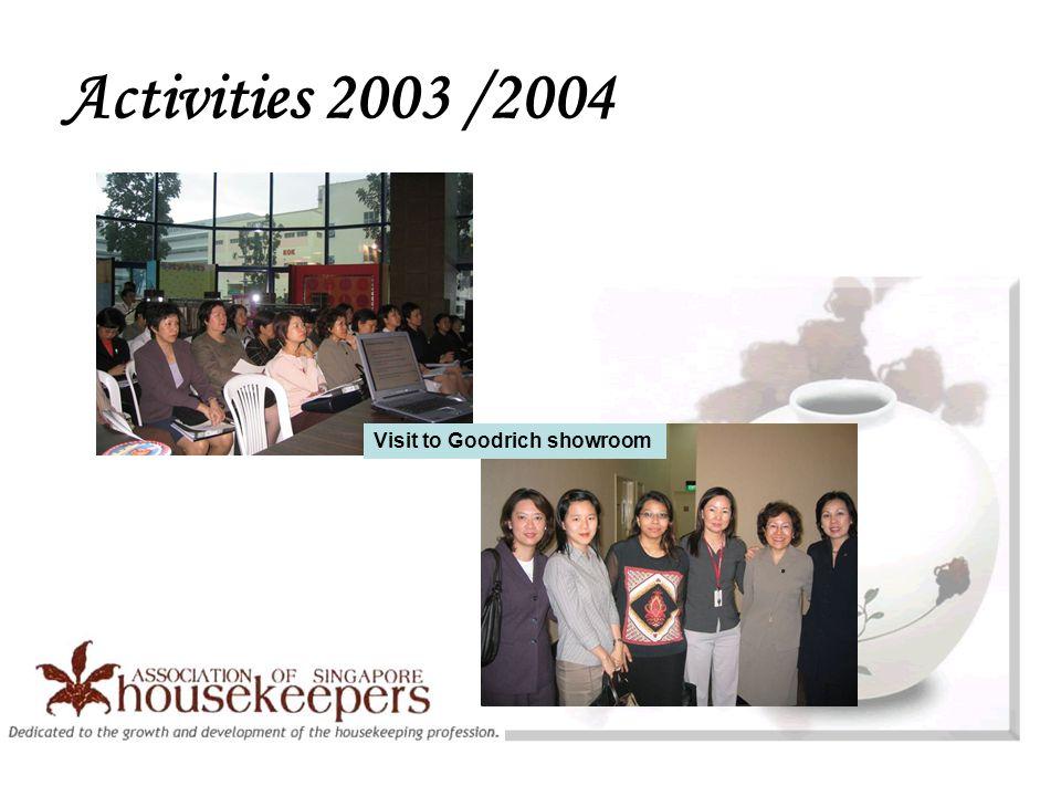 Activities 2003 /2004 Visit to Goodrich showroom