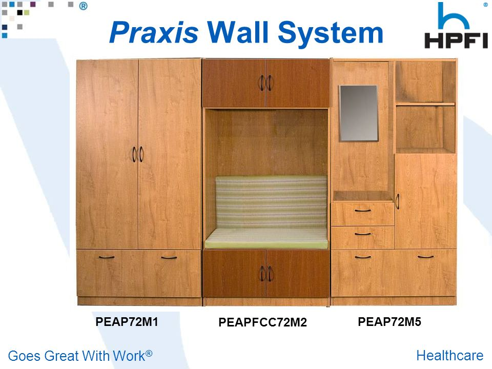Goes Great With Work ® Healthcare Praxis Wall System PEAP72M1 PEAPFCC72M2 PEAP72M5