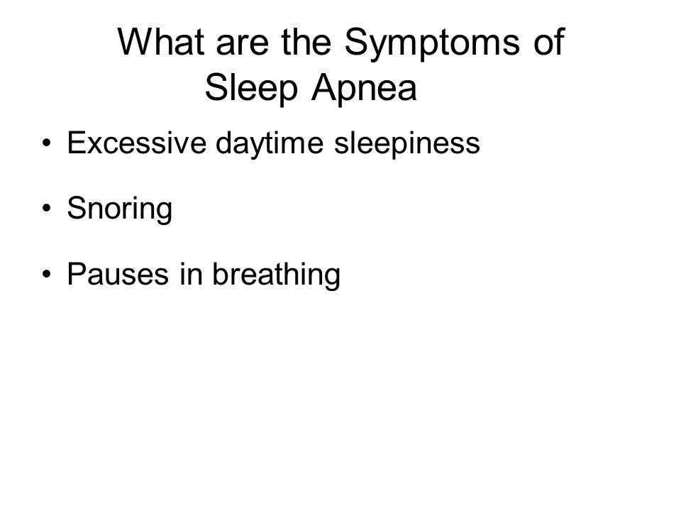 Pathophysiology of Apnea