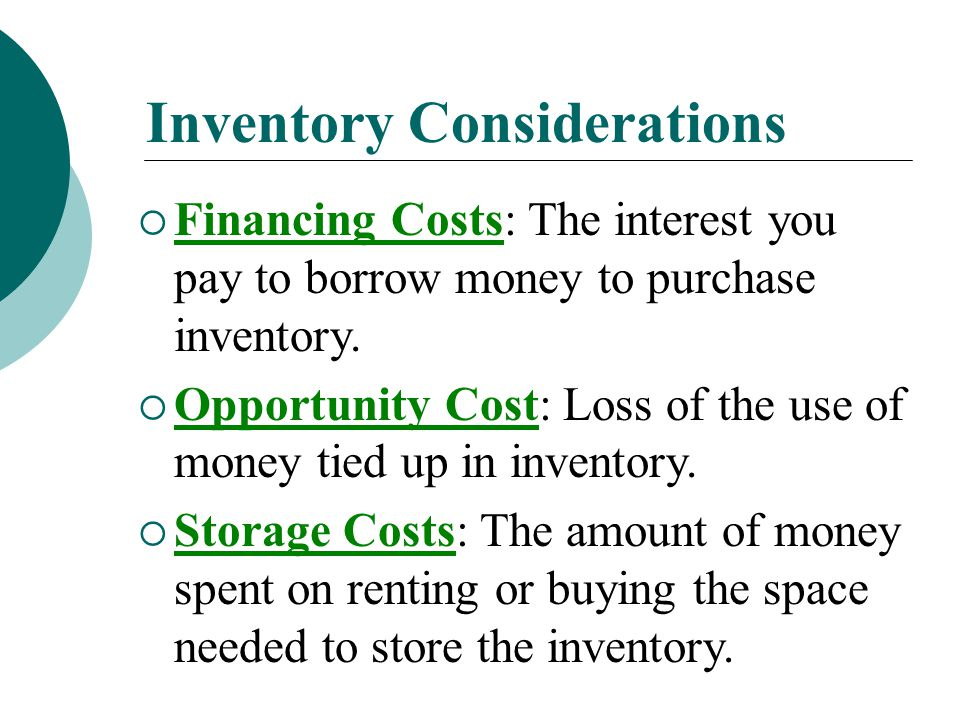 Inventory Management  The purpose of inventory management is to find and maintain inventory levels that are neither too small nor too large.