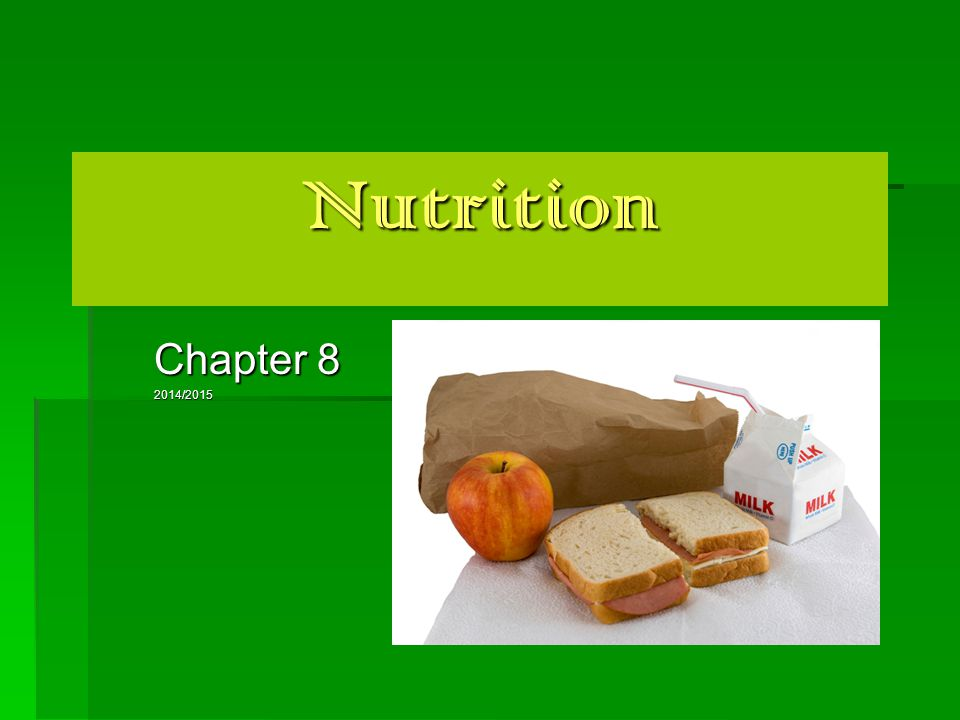 Nutrients – ( 6 )  substances that the body needs to regulate bodily functions, promote growth, repair body tissue and obtain energy.
