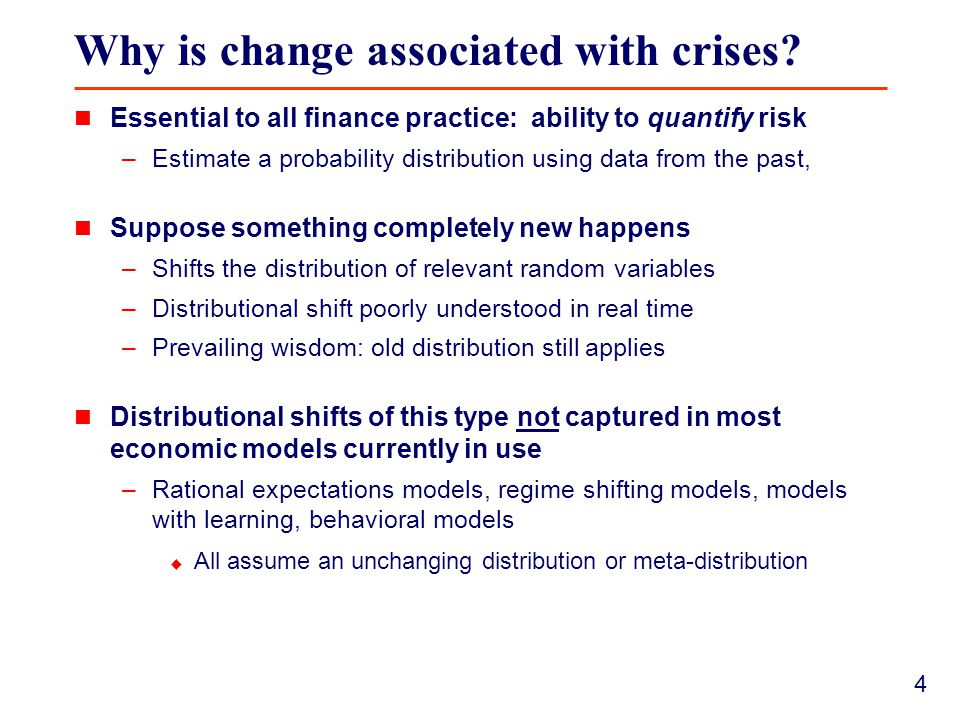 4 Why is change associated with crises.