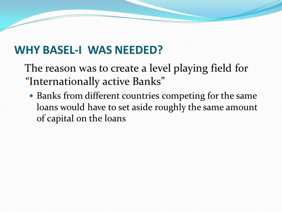 BASEL-II (6) Pillar I also adds a new capital component for operational risk Operational risk covers the risk of loss due to system breakdowns, employee fraud or misconduct, errors in models or natural or man-made catastrophes, among others