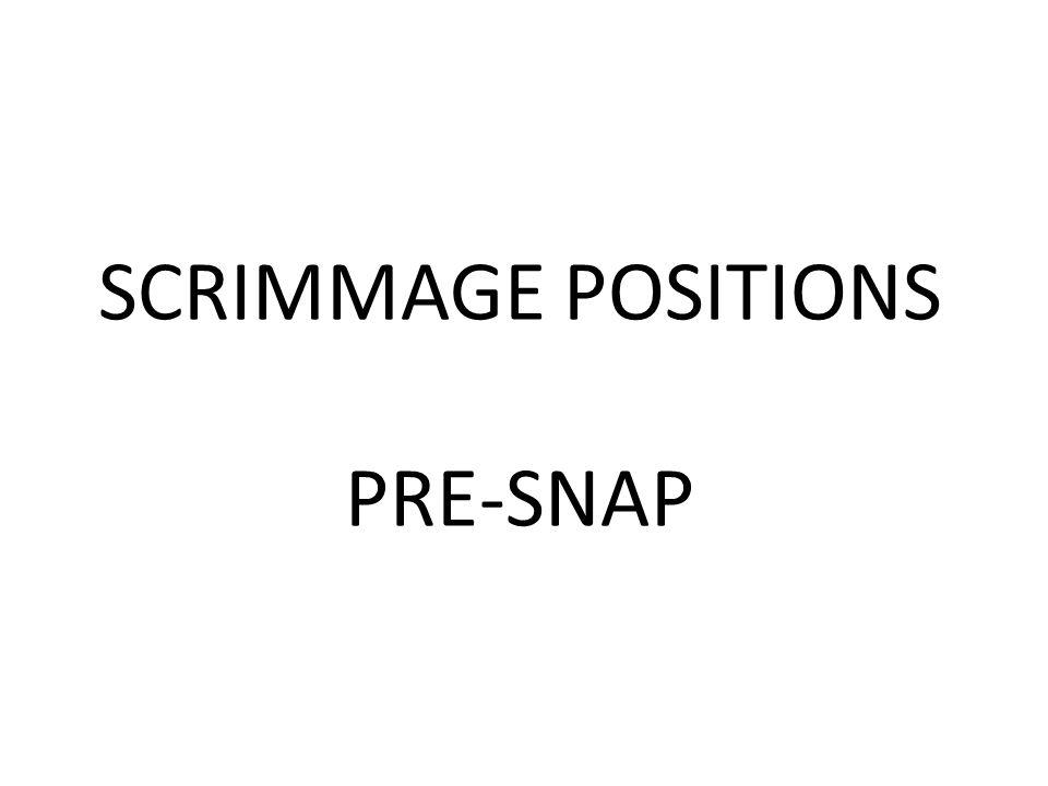 SCRIMMAGE POSITIONS PRE-SNAP