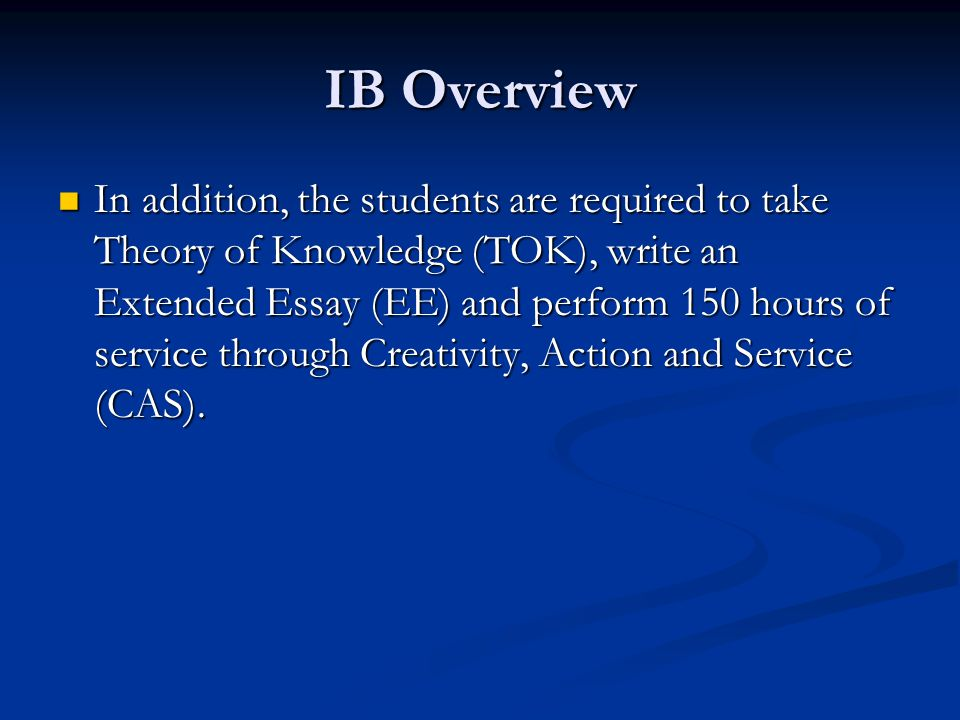 IB Link For more information about IB, go to For more information about IB, go to www.ibo.org Click on Diploma Programme Click on University Recognition http://www.ibo.org/diploma/recognition/index.cfm