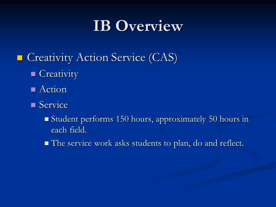 Gunn Research on IB Over the past year we have had numerous teachers attend workshops and visit IB schools Over the past year we have had numerous teachers attend workshops and visit IB schools