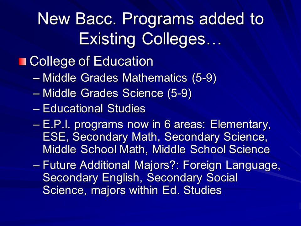 New Bacc.