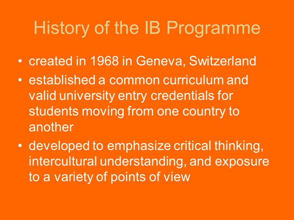 Benefits of IB to Students, School and Community Students are engaged in a comprehensive, challenging interdisciplinary curriculum Students are encouraged to think and act as world citizens Teachers implement IB philosophy and teaching practices in their non-IB classes