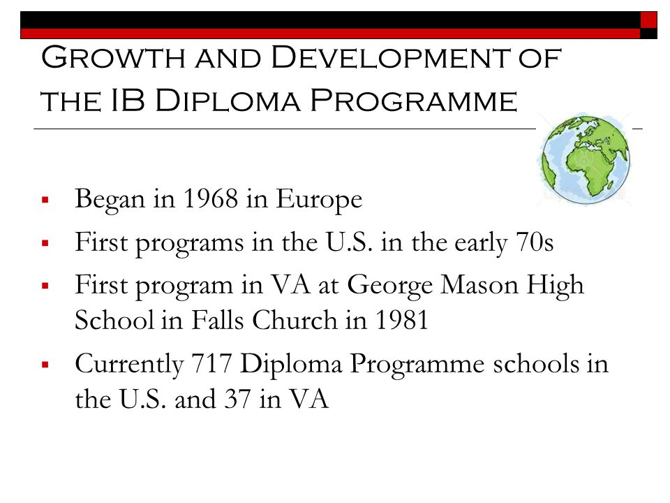 www.ibo.org IB Learner Profile Inquirers Knowledgeable Thinkers Communicators Principled Open-minded Caring Risk-takers Balanced Reflective IB programmes promote the education of the whole person, emphasizing intellectual, personal, emotional and social growth through all domains of knowledge.