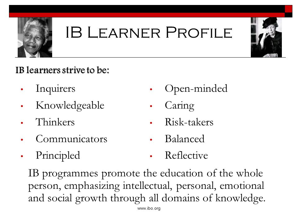What makes IB special.