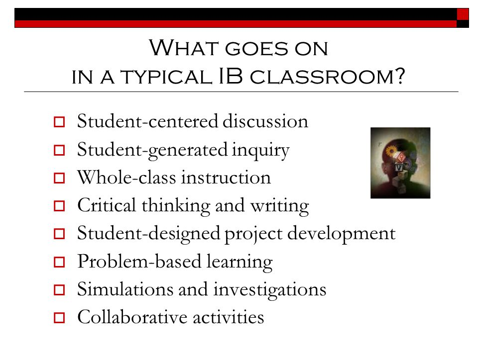 IB Certificate Option for Students  Students may take individual IB courses to challenge themselves in areas of strength or interest if they do not choose to pursue the full diploma.