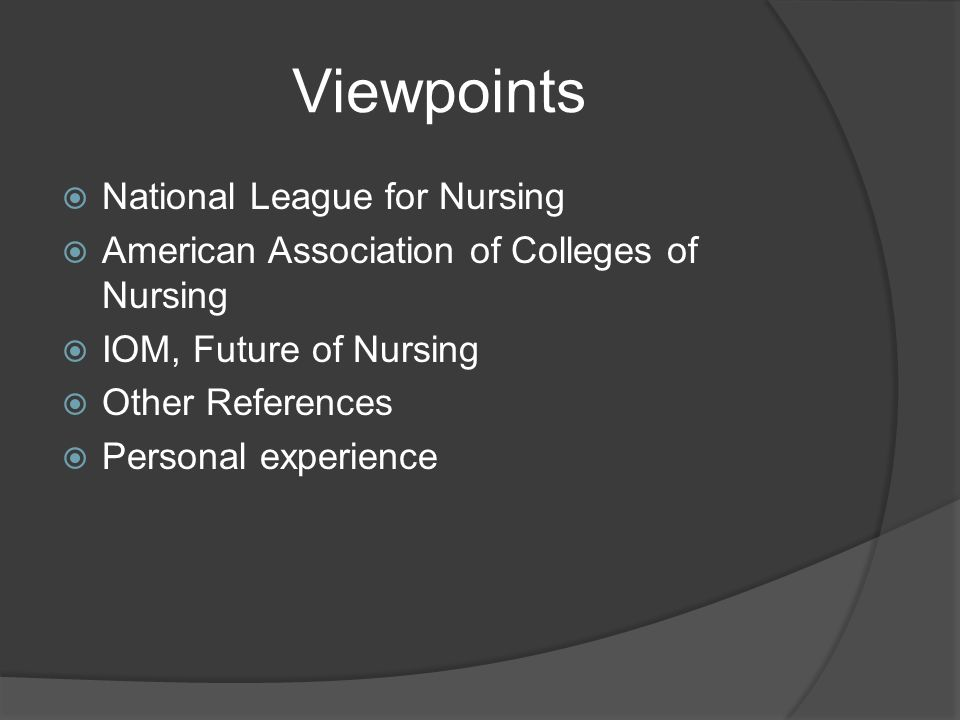AACN: Master's in Nursing Education  Graduates of master's degree programs in nursing are prepared with broad knowledge and practice expertise that builds and expands on baccalaureate or entry-level nursing practice.