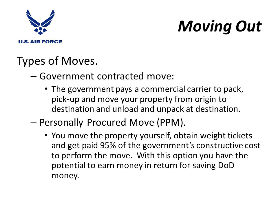 Moving Out Types of Moves.