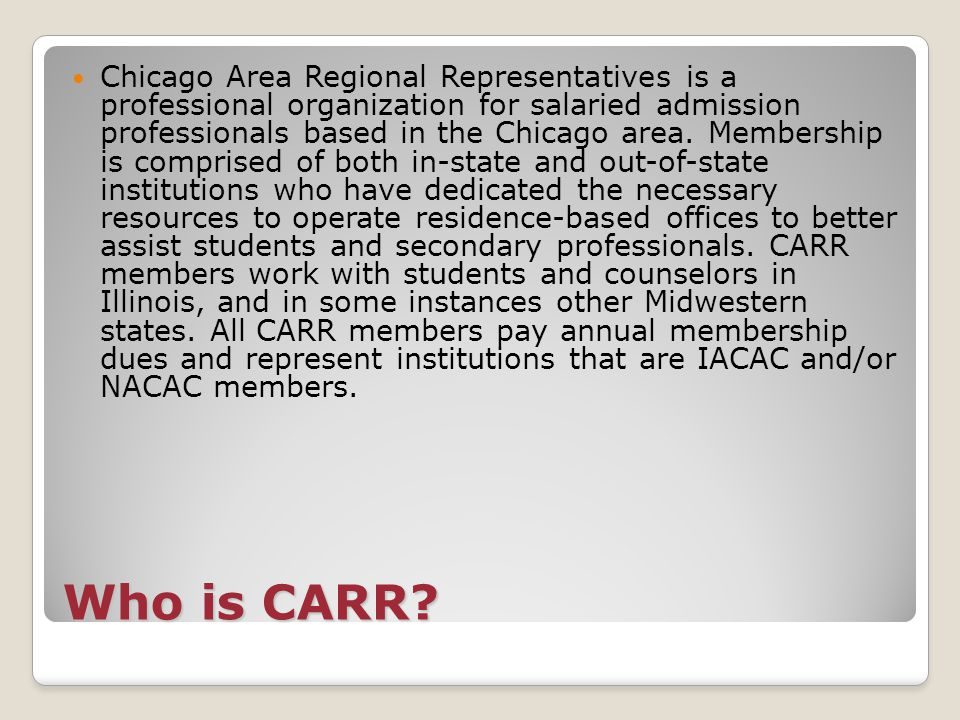 Who is CARR.