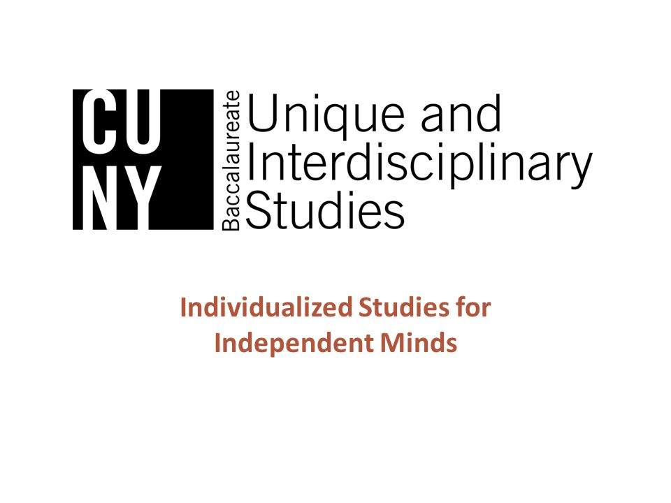 Individualized Studies for Independent Minds