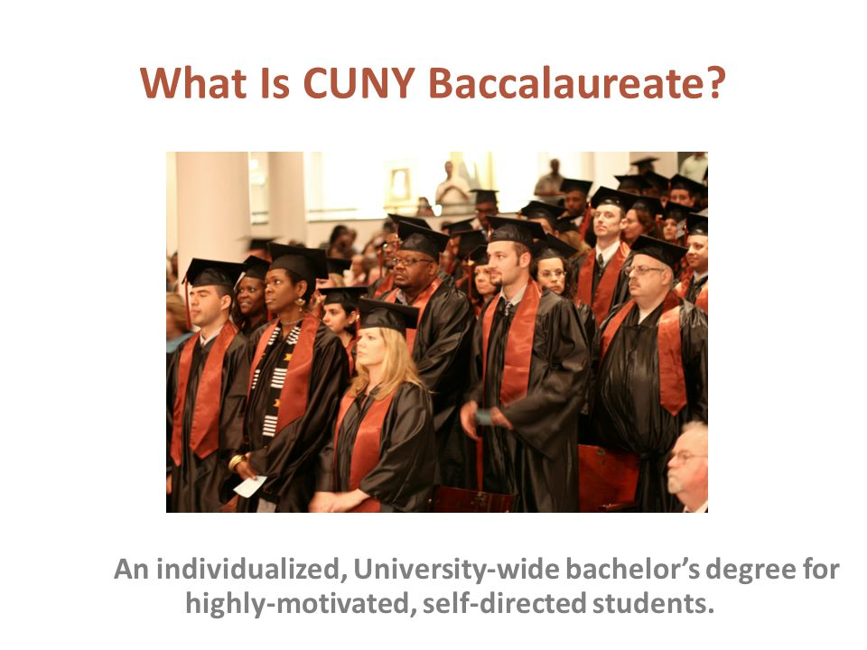 What Is CUNY Baccalaureate.