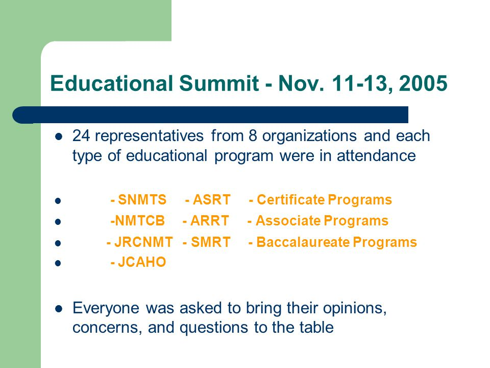 Educational Summit - Nov.