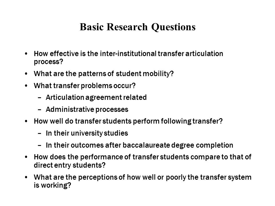 Policy Implications Both direct entry and college transfer are viable routes for students to access and be successful in baccalaureate studies.